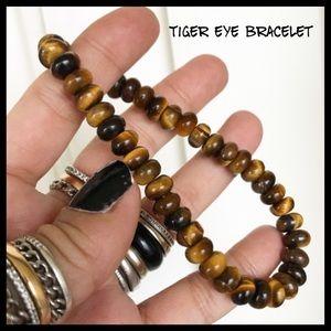 Men or women golden tiger eye rondelles bracelet